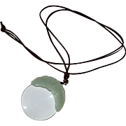 Magnifying Glass Pendant Jade