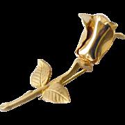 Sculpted Rose Brooch Pin