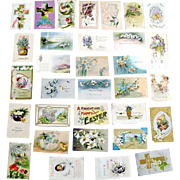 Easter Postcards Old 1900s 31 In All