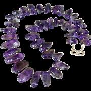 Polished Amethyst Necklace Big Stones