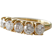 Ring Band Diamonique Cubic Zirconia 14K Gold
