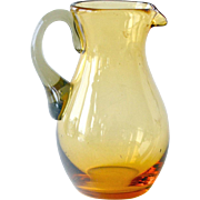 Amber Glass Miniature Pitcher