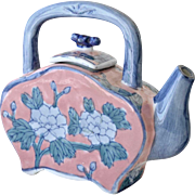 Teapot Blue and Pink China