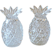 Crystal Pineapple Salt and Pepper Shakers