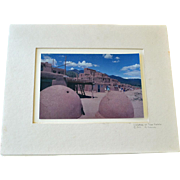 SALE Photograph Summer at Taos Pueblos 1999 Signed