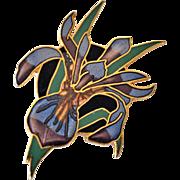 Pin Iris Cloisonne Spears 1989