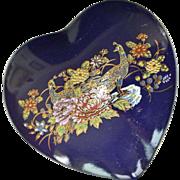 Heart Trinket Vanity Box Cobalt blue