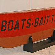 Painted Boat Hull Trade Sign