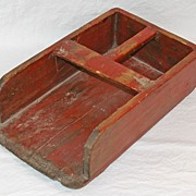 SALE Vintage Grain Scoop in Red Paint