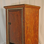 SALE Antique Faux Painted Wall Cabinet