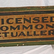 Vintage Early 20th Century Wooden Trade Sign