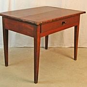 REDUCED Federal Work Table in Original Red Surface