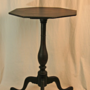 REDUCED 18th Century Connecticut Candle Stand