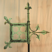 SALE Early Form of Copper Banneret Weathervane