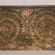 Carved and Painted Blanket Chest Fragment