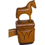 SALE Horse and Bear Carved Ceremonial Gavel