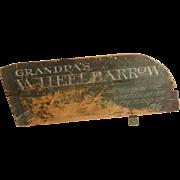 Painted Wheelbarrow Fragment