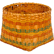 SALE New England Decorated Indian Basket