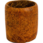Early Hand Hewn Ash Burl Mortar