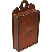 Walnut Slide Lid Box with Sunburst Carving