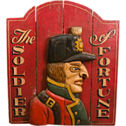 Carved and Painted Soldier of Fortune Trade Sign