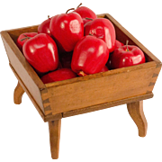 Footed Wooden Apple Box