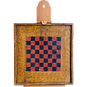 Game Board with Vinegar Paint Decoration