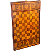Early Maple and Walnut Inlaid Checker Board