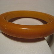 SALE Bakelite Butterscotch Vintage Bangle *Thick & Heavy*