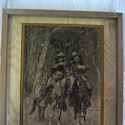 Remington Two Scouts Photography on Framed Glass