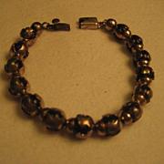 Sterling Silver & Amber Beaded Bracelet