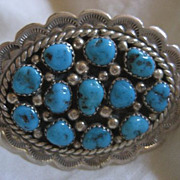Sterling Silver & Turquoise Cluster Ring