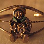 Sterling Silver & Turquoise Storyteller Bracelet