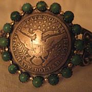Sterling Silver Buffalo Dancer US Silver Dollar Bracelet