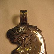 Sterling Stamped Eagle Pendant
