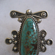 Sterling Silver Turquoise Sandoval Ring