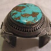 Navajo Sterling Silver & Turquoise Vintage Bracelet