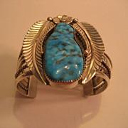 Sterling Silver & Turquoise Large Bracelet