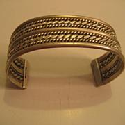 Sterling Rope Design Signed TAHE Bracelet