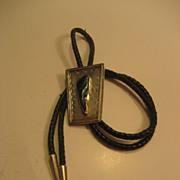 Sterling Azurite Vintage Bolo Tie
