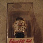 SALE Campbell Kid Wind Up Vintage Watch In Box