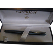 SALE Waterman Marbled Blue Fountain Pen In Box