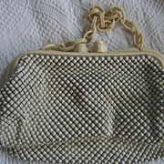 Whiting & Davis Mesh Handbag With Celluloid  Handles