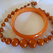 Bakelite Vintage Bakelite Necklace & Bracelet