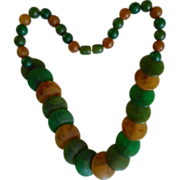 Bakelite Vintage Disc+Bead Necklace