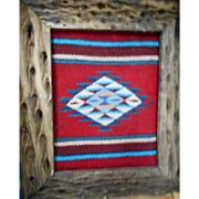 SOLD Zapotec Cactus Rib Framed Textile