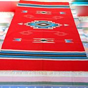Chimayo Wool Red Vintage Rug