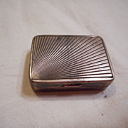 Sterling Silver Stamped Pill Box