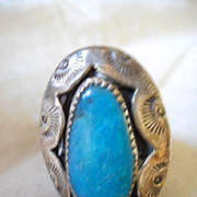 Sterling Silver Turquoise Shadow Box Ring