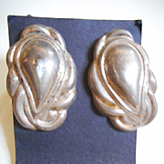 Sterling Silver Vintage Clip Earrings